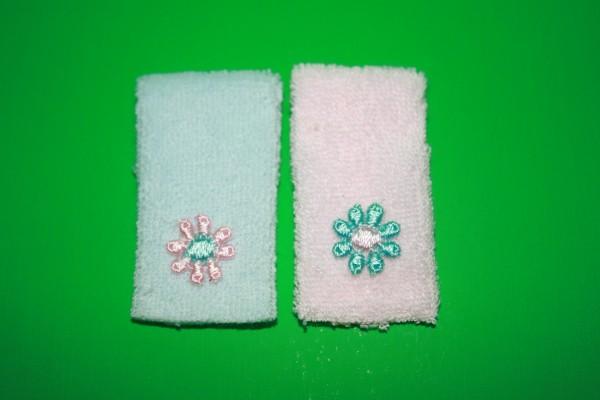 Miniatur Handtücher rosa/hellblau 1:12