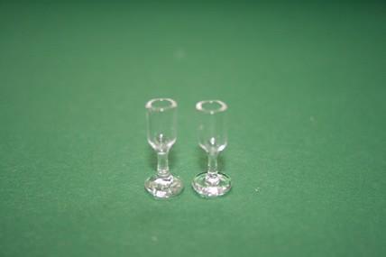 Sektgläser, Glas - 2 Stück
