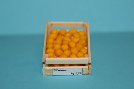 Obstkiste mit Zitronen, 1:12