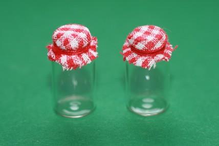 Marmeladen-/Vorratsgläser leer, Glas - 2 Stück
