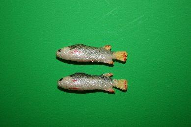 Fische, silber/gelb - 2 Stück