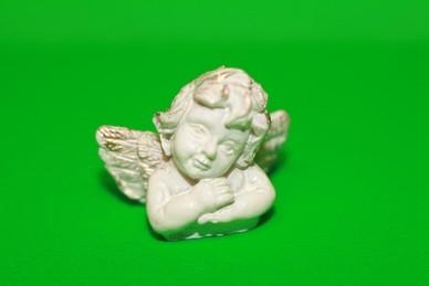 Engel-Büste, Arme gekreuzt, Polyresin