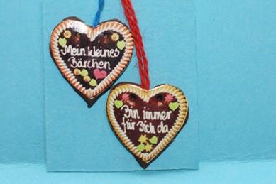 Lebkuchen-Herzen - 2 Stück