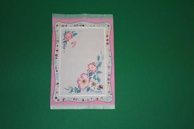 Webteppich rosa, mit Blumenmuster