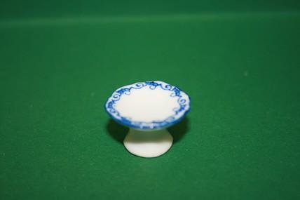 Torten-/Kuchenständer weiß/blau