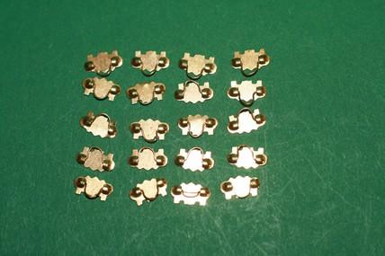 Schubladengriffe - 10 Stück, goldfarben, 1:12