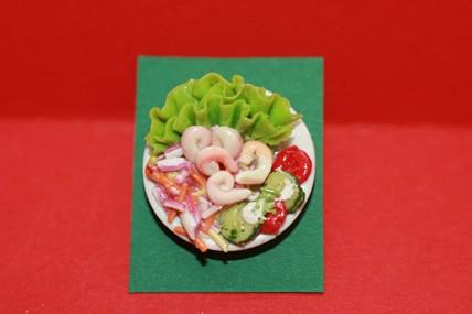 Teller mit Shrimps, 1:12