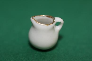 Kännchen weiß, mit Goldrand, 4 Stück, Porzellan
