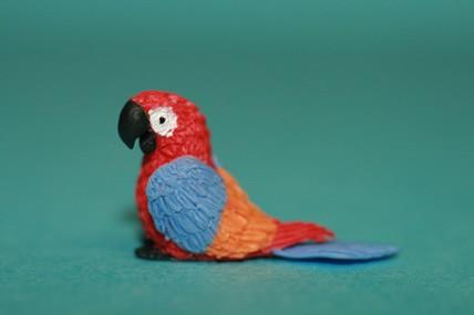 Papagei klein, rot/blau/orange