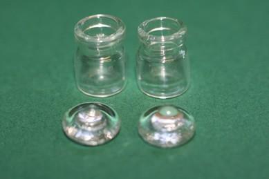 Vorratsgläser mit Glasdeckel, Glas - 2 Stück