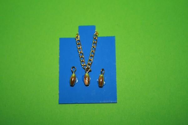 Halskette und Ohrringe goldfarben